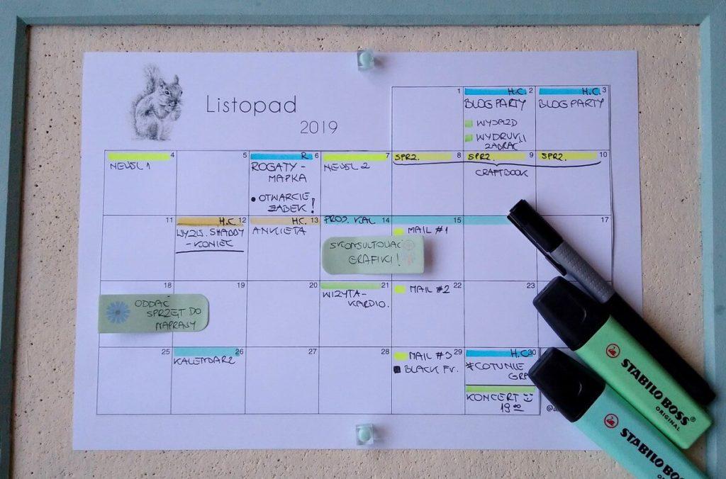 kalendarz do druku