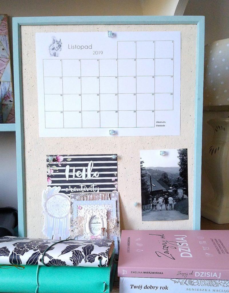 kalendarz na tablicy