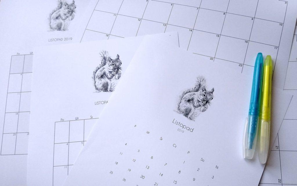 planowanie w kalendarzu