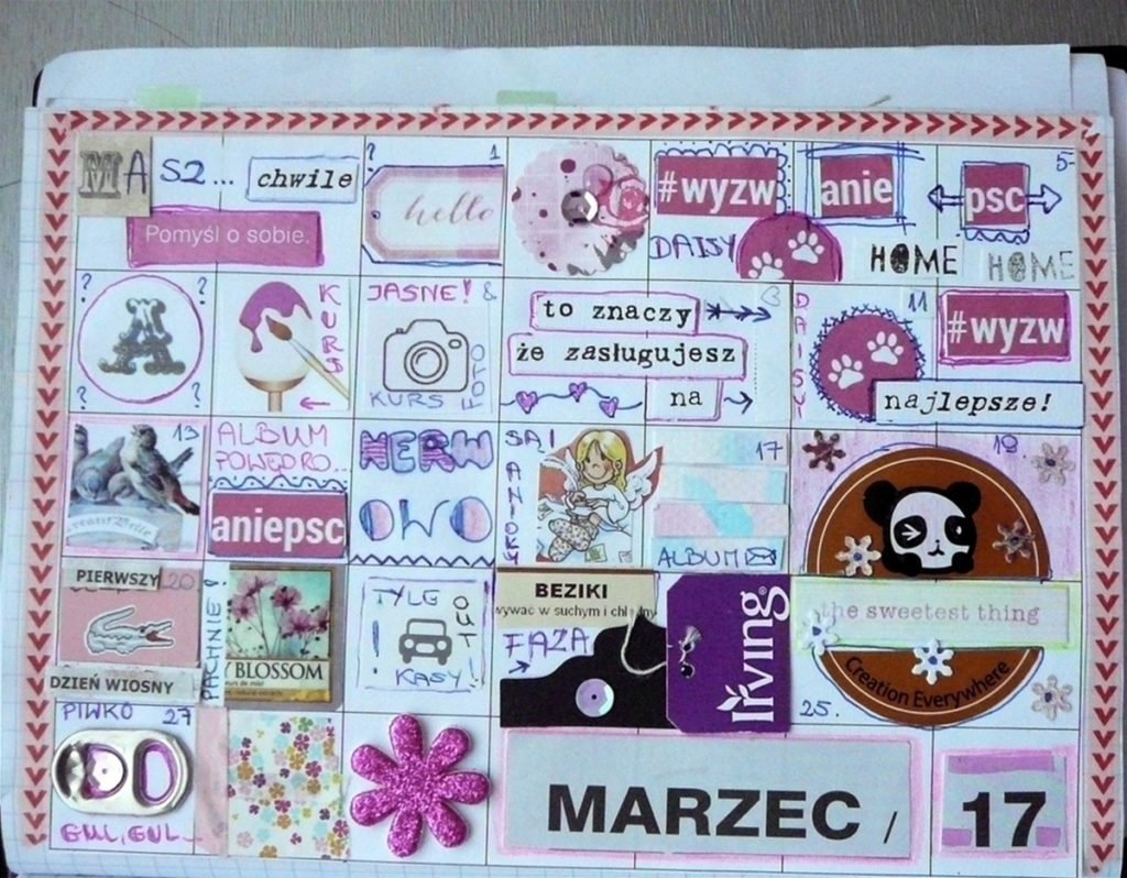 kalendarz calineczki marzec