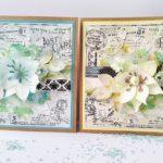 Kartki z kwiatami z foamiranu