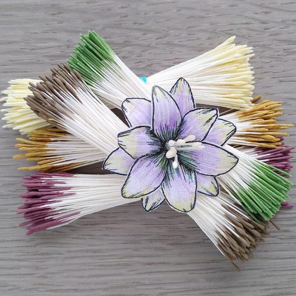 pręciki do kwiatków w naturalnych barwach