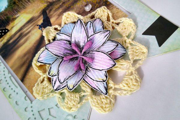 kwiatek ręcznie robiony