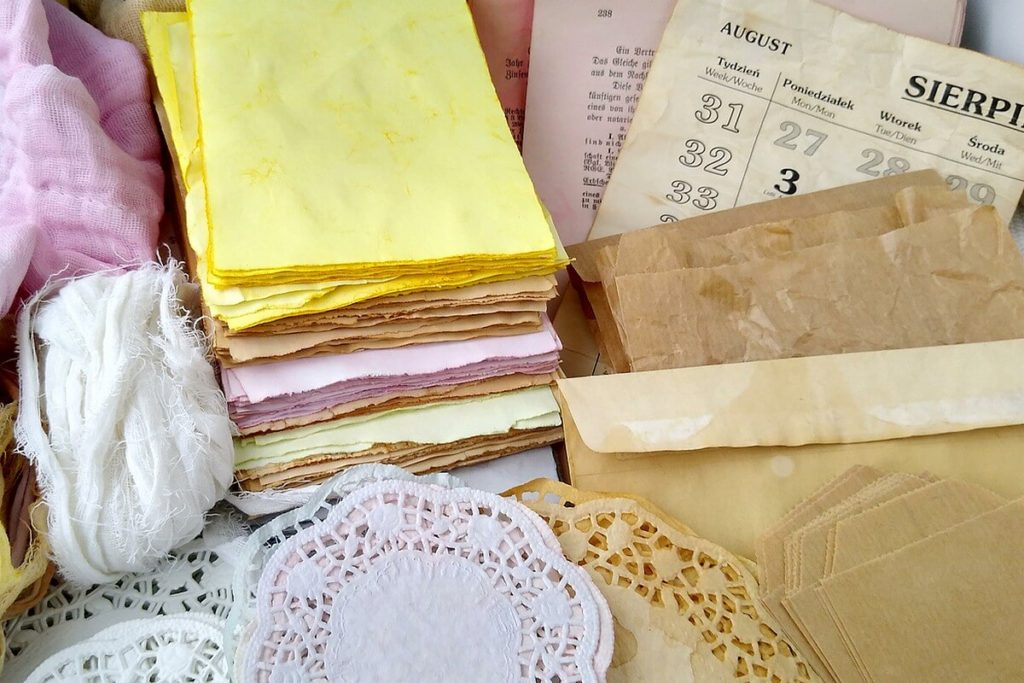 zbiór materiałów do junk jurnala