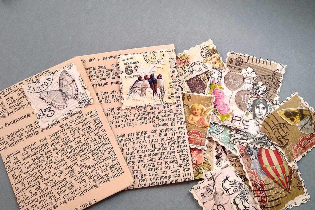 znaczki udawane do junk journala