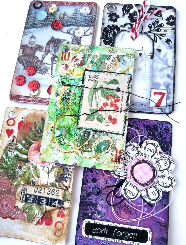 karty alterowane pięć sztuk