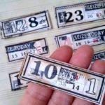 etykiety labels numeryczne