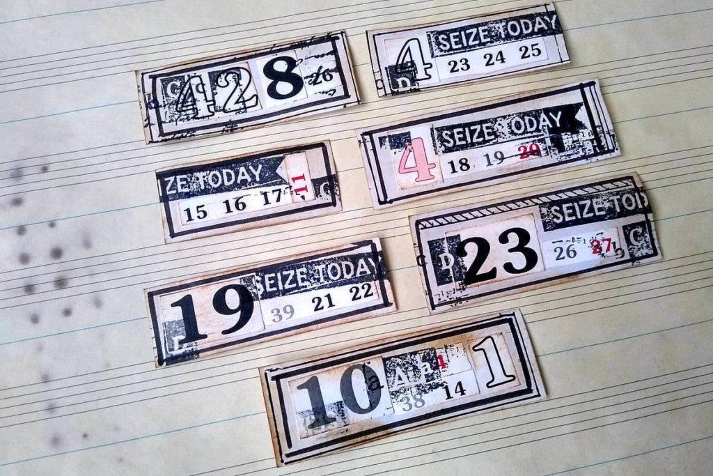etykiety z numerkami